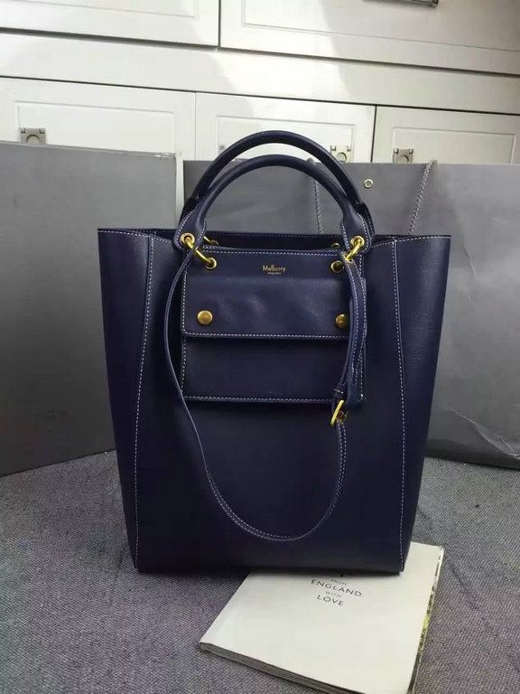2016 A/W Mulberry Maple Tote Bag Midnight Sleek Calf Leather