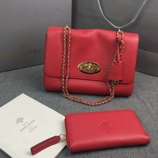 2016 Mulberry Medium Lily Fiery Spritz Soft Grain with Soft Gold