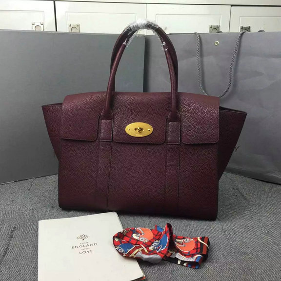 2016 A/W Mulberry New Bayswater Oxblood Natural Grain Leather