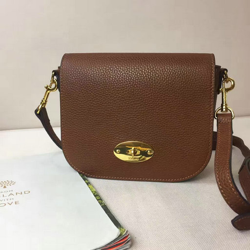 2017 Spring Mulberry Small Darley Satchel Oak Classic Grain Leather