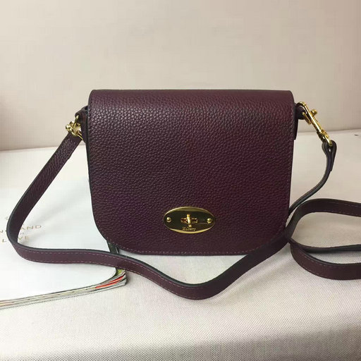 2017 Spring Mulberry Small Darley Satchel Oxblood Classic Grain Leather