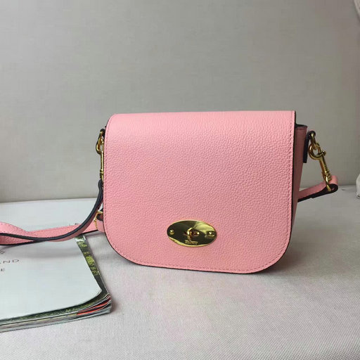 2017 Spring Mulberry Small Darley Satchel Macaroon Pink Classic Grain Leather