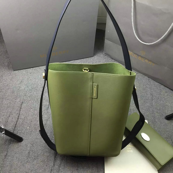 2016 Spring Mulberry Small Kite Tote Bag in Khaki & Midnight Flat Calf Leather