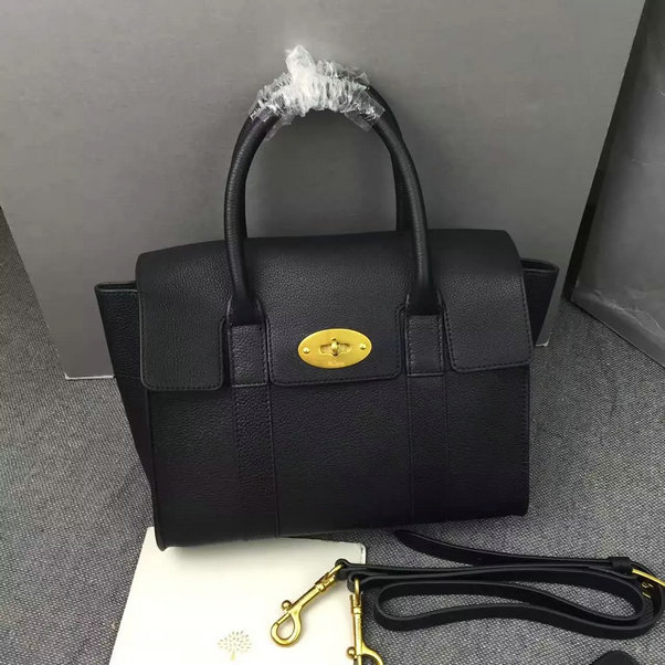 2016 A/W Mulberry Small New Bayswater Black Natural Grain Leather