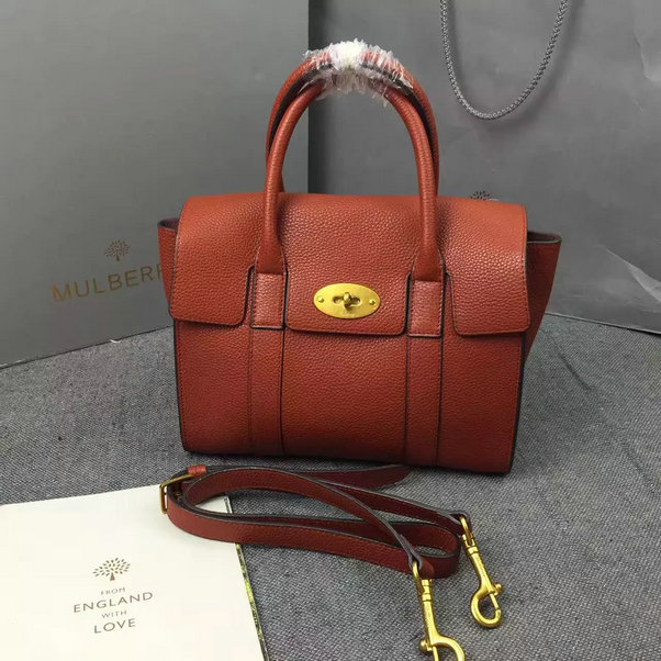 2016 A/W Mulberry Small New Bayswater Oak Natural Grain Leather