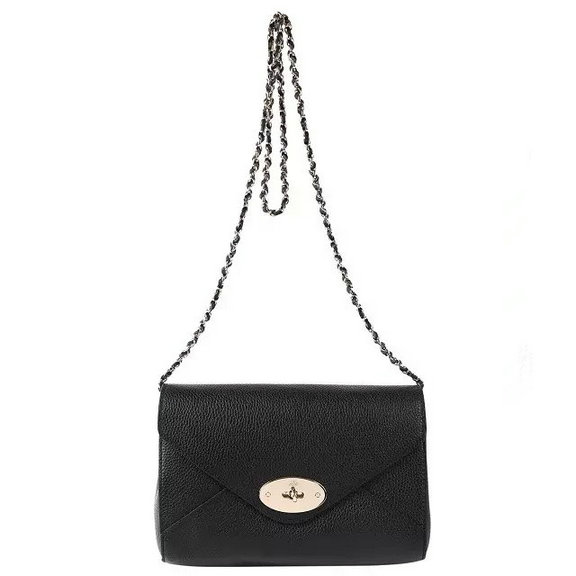 2016 S/S Mulberry Envelope Shoulder Bag Black Leather