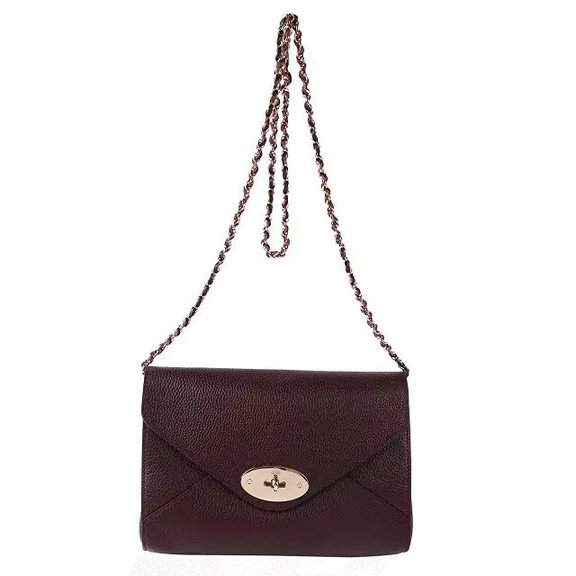 2016 S/S Mulberry Envelope Shoulder Bag Oxblood Leather