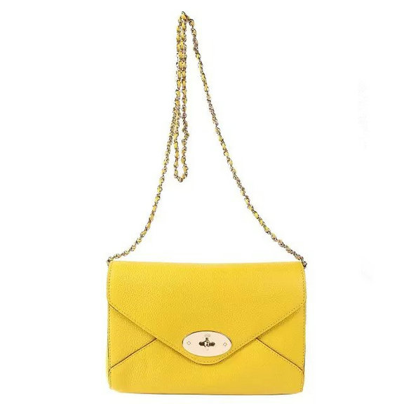 2016 S/S Mulberry Envelope Shoulder Bag Yellow Leather