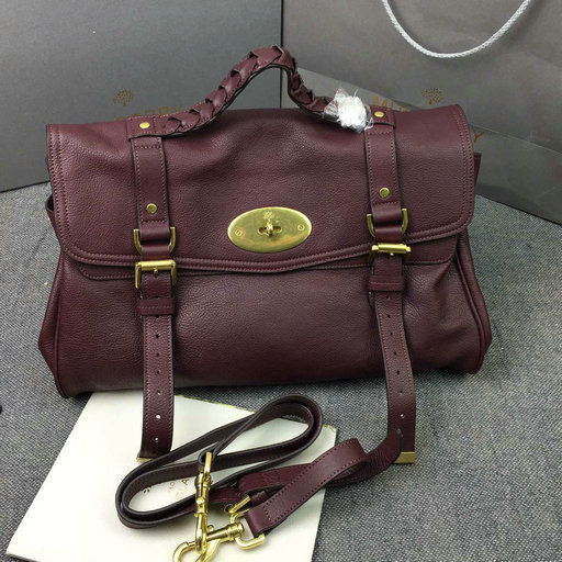 2016 Latest Mulberry Large Alexa Bag in Oxblood Soft Leather