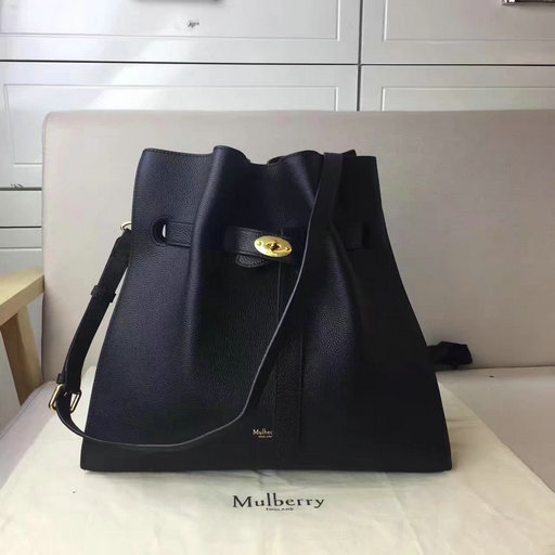 2017 Mulberry Tyndale Bucket Bag Black Small Classic Grain