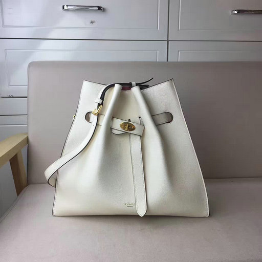 2017 Mulberry Tyndale Bucket Bag White Small Classic Grain