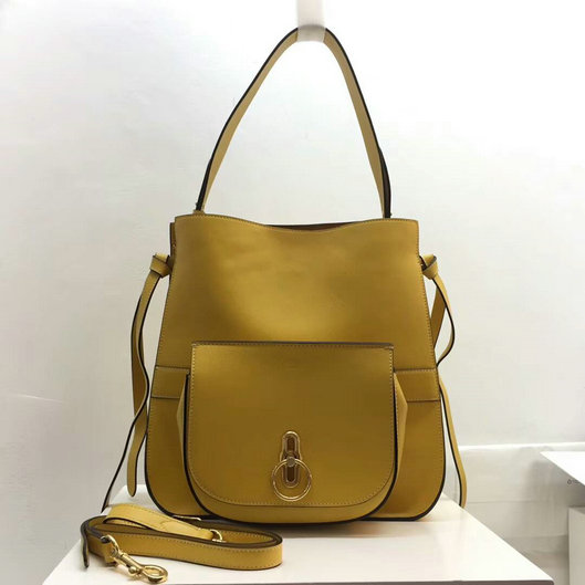 2017 Latest Mulberry Amberley Hobo Gold Ochre Leather