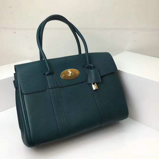 2017 Latest Mulberry Bayswater Handbag in Ocean Green Leather