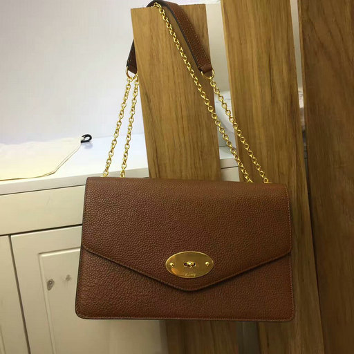 2017 Latest Mulberry Large Darley Bag Oak Grain Leather