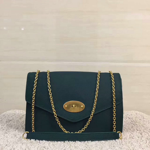 2017 Latest Mulberry Large Darley Bag Ocean Green Grain Leather
