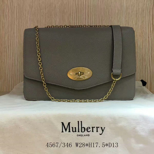 2017 Latest Mulberry Large Darley Bag Clay Grain Leather