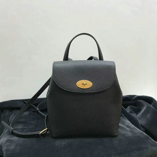 2017 Latest Mulberry Mini Bayswater Backpack in Black Grain Leather