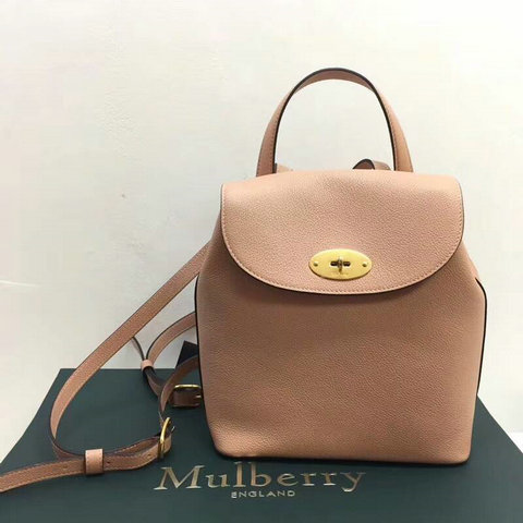 2017 Latest Mulberry Mini Bayswater Backpack in Rosewater Grain Leather