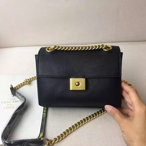 2017 Spring Mulberry Mini Cheyne Bag in Black Smooth Calf Leather