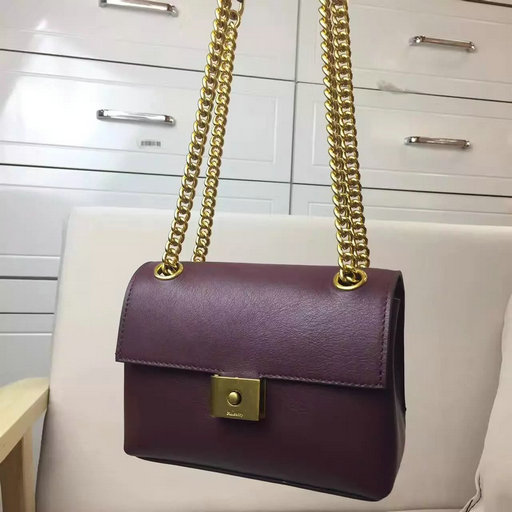 2017 Spring Mulberry Mini Cheyne Bag in Oxblood Smooth Calf Leather