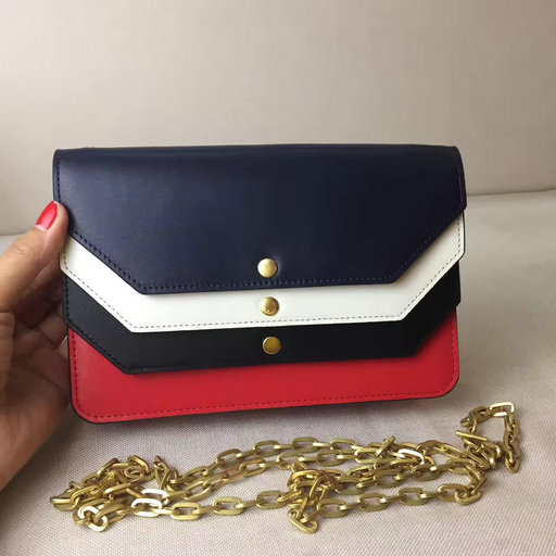 2017 Summer Mulberry Multiflap Clutch Midnight,Chalk,Black & Fiery Red Smooth Calf
