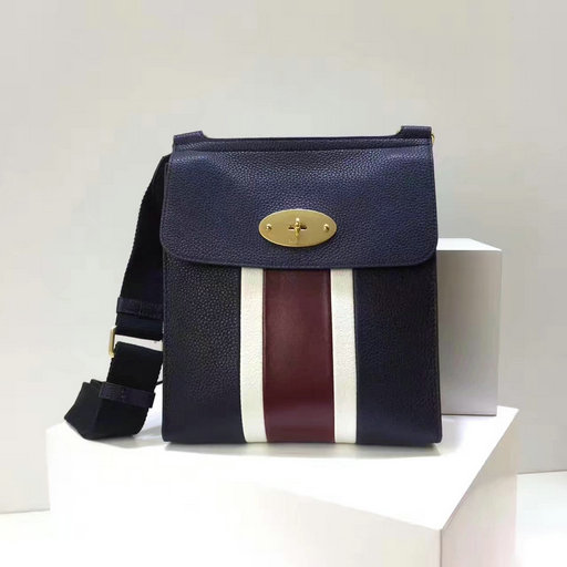 2017 Latest Mulberry New Antony Midnight,White & Burgundy Small Classic Grain