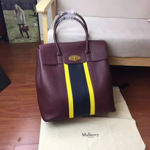 2017 Summer Mulberry Oversized Bayswater Oxblood,Sunflower & Midnight Small Classic Grain