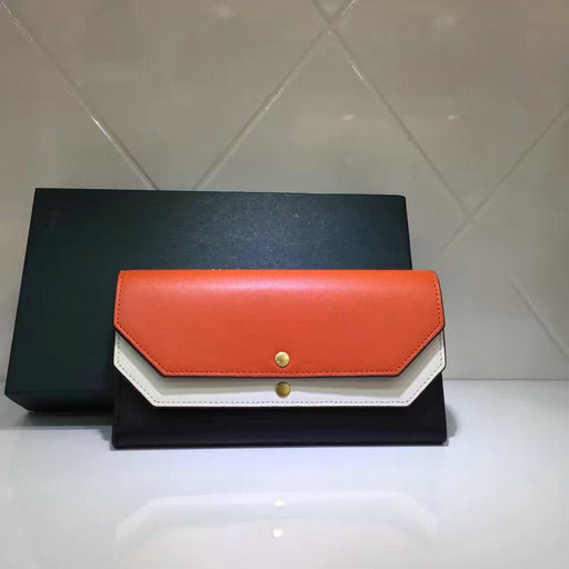 2017 Latest Mulberry Multiflap Wallet Bright Orange,Chalk & Black Smooth Calf