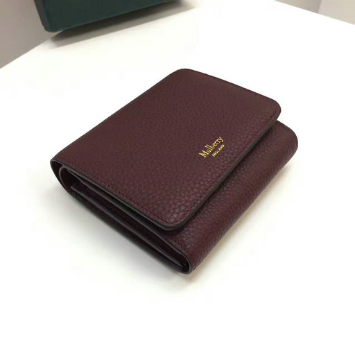 2017 Latest Mulberry Small Continental French Purse Oxblood Small Classic Grain