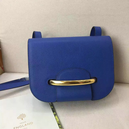 2017 Spring Mulberry Selwood Satchel Bag Porcelain Blue Classic Grain