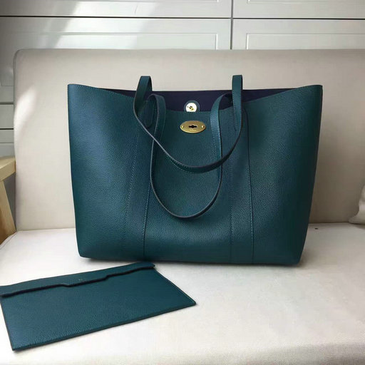 2017 Latest Mulberry Bayswater Tote Ocean Green Small Classic Grain Leather