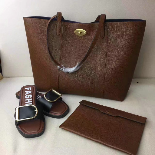 2017 Latest Mulberry Bayswater Tote Oak Small Classic Grain Leather