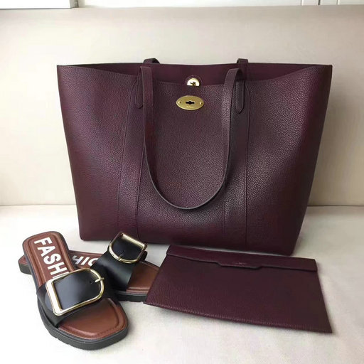 2017 Latest Mulberry Bayswater Tote Oxblood Small Classic Grain Leather