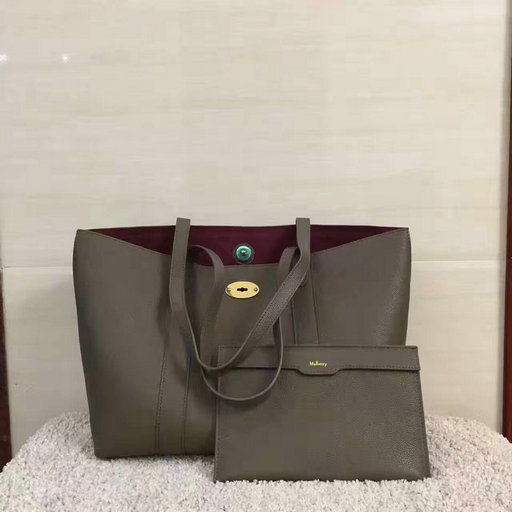 2017 Latest Mulberry Bayswater Tote Clay Small Classic Grain Leather