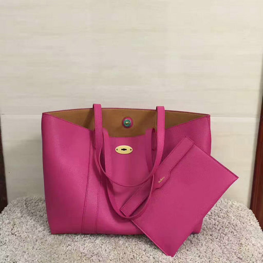 2017 Latest Mulberry Bayswater Tote Fuchsia Small Classic Grain Leather