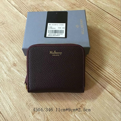 2017 Mulberry Small Zip Around Purse Oxblood Small Classic Grain
