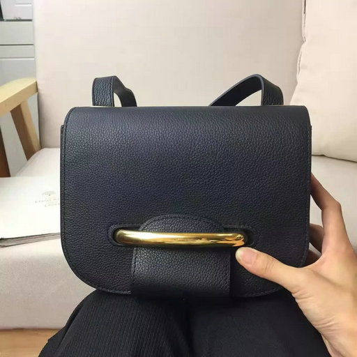 2017 Spring Mulberry Small Selwood Satchel Bag Black Classic Grain