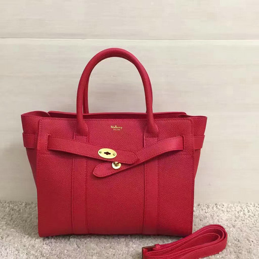 Winter 2016 Mulberry Small Zipped Bayswater Red Small Classic Grain