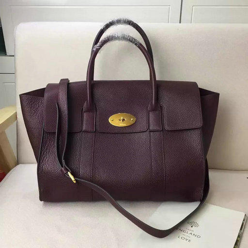 2017 Spring Mulberry Bayswater with Strap Oxblood Grain Leather