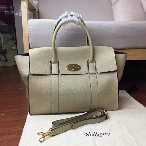 2017 Spring Mulberry Bayswater with Strap Dune Grain Leather