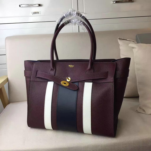 2017 Summer Mulberry Zipped Bayswater Oxblood,White & Midnight Small Classic Grain