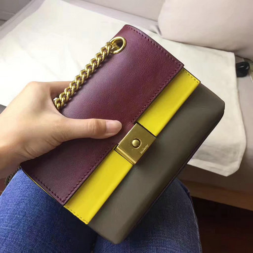 2017 Summer Mulberry Mini Cheyne Bag Oxblood,Sunflower & Clay Smooth Calf
