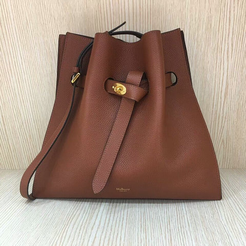2018 Mulberry Tyndale Bucket Bag Oak Small Classic Grain