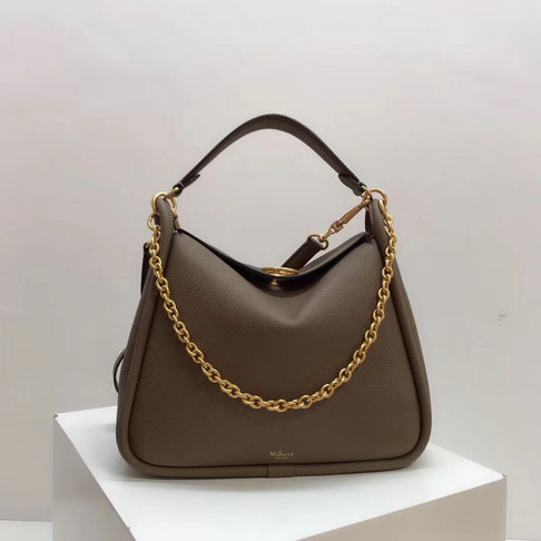 2018 Mulberry Leighton Bag in Clay Small Classic Grain Leather