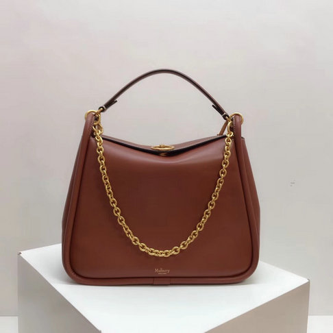 2018 Mulberry Leighton Bag in Tan Silky Calf Leather