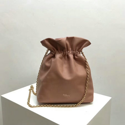 2018 Mulberry Lynton Mini Bucket Bag in Pink Leather