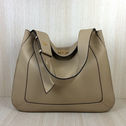 2018 Mulberry Marloes Hobo Bag in Light Dune Grain Leather