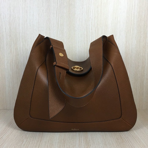 2018 Mulberry Marloes Hobo Bag in Oak Grain Leather
