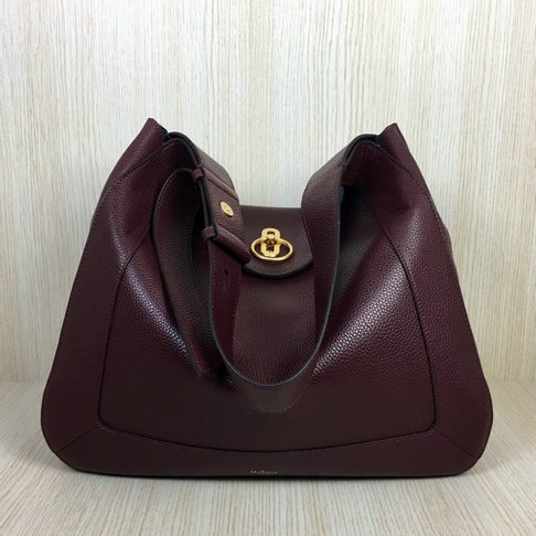 2018 Mulberry Marloes Hobo Bag in Oxblood Grain Leather