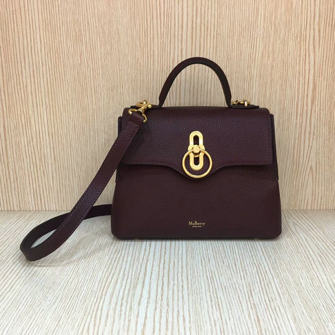 2018 New Mulberry Small Seaton Bag Oxblood Classic Grain Leather